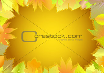 Autumn greeting card.