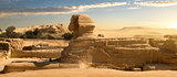 Sphinx in desert