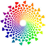 color wheel with triangles
