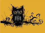 rough grungy owl