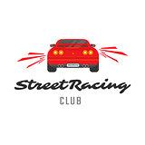 Red car emblem