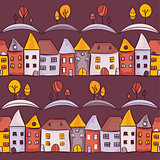 Village seamless pattern