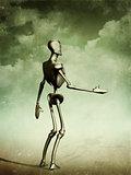 Standing humanoid
