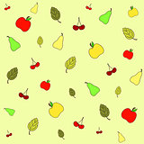 Seamless picture with various fruits