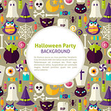 Flat Vector Pattern Halloween Party Background