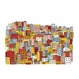 Abstract cityscape background, sketch for your design
