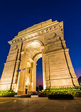 New Delhi Gateway of India at Blue Hour