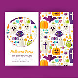 Vector Halloween Party Banners Set Template