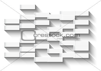 Abstract white background with glowing rectangles for business c