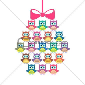 Cute vector merry christmas card