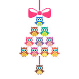 Cute vector merry christmas card