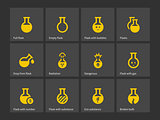 Laboratory flask icons.