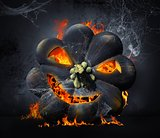 Halloween scary pumpkin