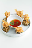 Thai Golden Money Bags Appetizer