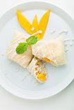 Thai Dessert Crepes