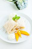 Mango Sticky Rice Crepes