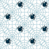 Spiders seamless pattern