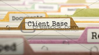 Client Base Concept on Folder Register.