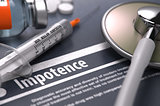 Diagnosis - Impotence. Medical Concept.