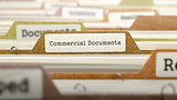 Commercial Documents Concept. Folders in Catalog.
