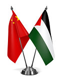 China and Palestine - Miniature Flags.