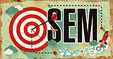 SEM Word on Poster in Grunge Design.