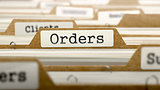 Orders Concept with Word on Folder.