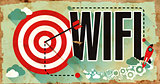 WiFi Word on Poster in Grunge Design.