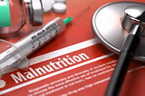 Malnutrition. Medical Concept.
