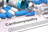 Diagnosis - Cardiomyopathy. Medical Concept.
