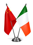 China and Ireland - Miniature Flags.