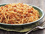 rustic italian sicilian pesto spaghetti