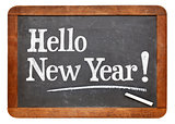 Hello New Year on blackboard