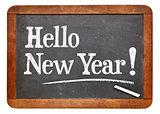 Hello New Year on blackboard