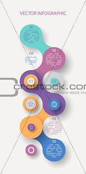 Circle flat infographic