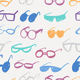 Seamless glasses pattern