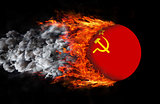 Flag with a trail of fire - USSR