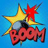 Boom bomb blast comic style
