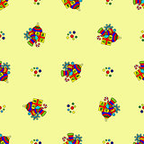 pattern with new year celebration