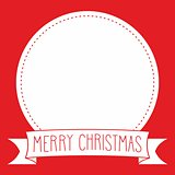 Holidays vector card with Merry Christmas wish on red background