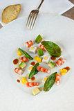 Salad of prawns and avocado