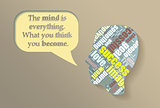 Illustration abount mind and motivation. Also success and love theme.