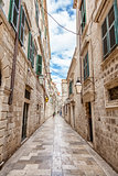 Architecture in the old town of Dubronik, Croatia