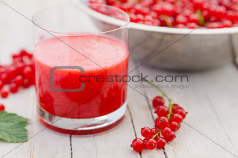 Fresh and healthy red currant smoothie