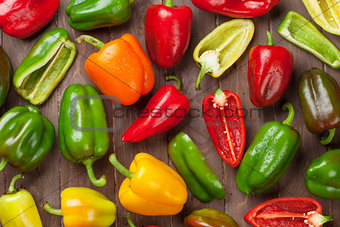 Fresh colorful bell peppers