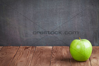 Apple fruit on classroom table