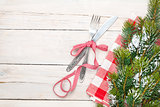 Silverware and christmas tree