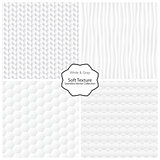 Vector collection of seamless soft textures