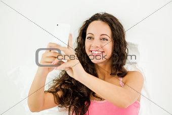 A selfie on the bedroom