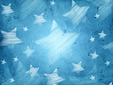 abstract blue background with striped stars